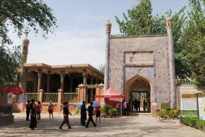 Kashgar 17 bis Mausolée d'Abakh Khodja premier portail donnant accès aux jardins