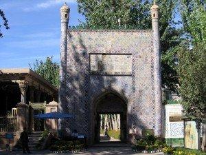 Kashgar 17 Mausolée d'Abakh Khodja premier portail donnant accès aux jardins