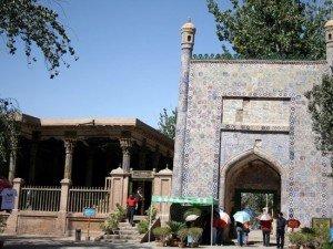 Kashgar 17 ter Mausolée d'Abakh Khodja premier portail donnant accès aux jardins