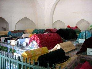 Kashgar 18 Mausolée d'Abakh Khodja intérieur des tombeaux