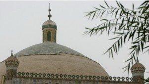 Kashgar 19 Mausolée d'Abakh Khodja minaret détail
