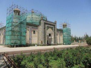 Kashgar 20 bis Mausolée d'Abakh Khodja rénovations