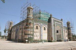 Kashgar 20 ter Mausolée d'Abakh Khodja rénovations 2013