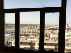 Kashgar photo de la fenêtre de l'hôtel de la nouvelle ville 01 fev 2013