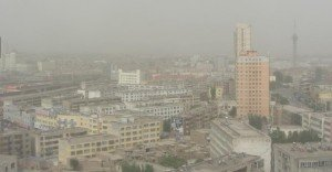 Kashgar photo de la fenêtre de l'hôtel de la nouvelle ville 02 juin 2014