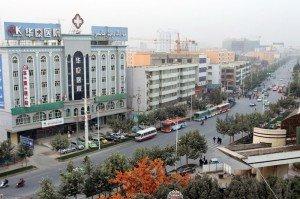 Kashgar photo de la fenêtre de l'hôtel de la nouvelle ville sept 2010