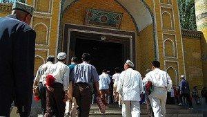 Mosquée Id Kah de Kashgar 08 extrait ou coupure de Coran