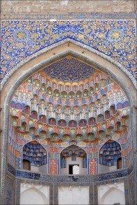 Mouquarnas de la mosquée Abdoul Aziz Khan de Boukhara en Ouzbékistan