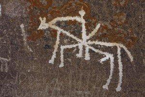 pétroglyphe de la vallée de Whakhan 05 un cavalier