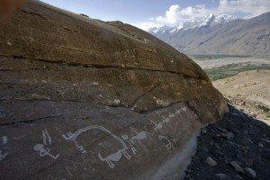 pétroglyphe de la vallée de Whakhan 07  cavaliers