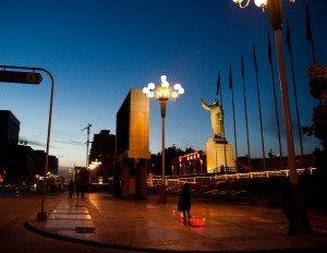 place du peuple de Kashgar de nuit 02