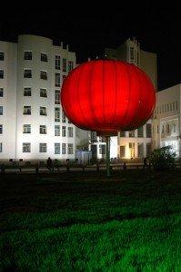 place du peuple de Kashgar de nuit