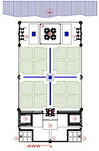 plan des mausolées