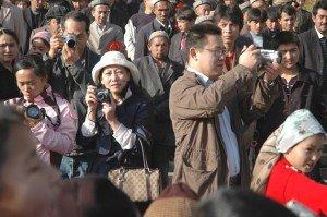 Touristes chinois à Kashgar