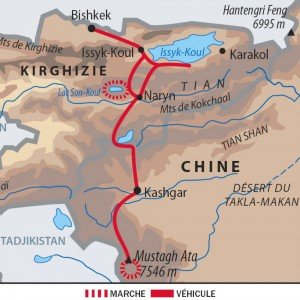 carte des routes jusqu'à Kashgar 03