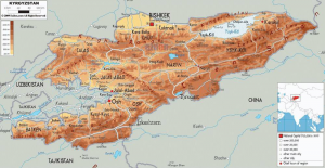 carte du Kirghizstan fournie par Laurent 01