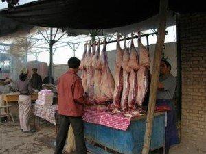 Kashgar ruelle de la vielle ville allée des bouchers 02