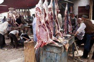 Kashgar ruelle de la vielle ville allée des bouchers 04