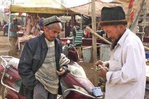 Kashgar vendeur acheteur