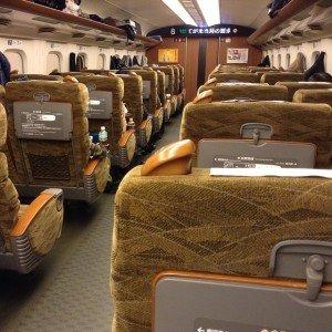 A bord du Shinkansen 700 Sakura