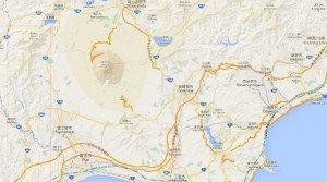 carte du FujiSan d'hakone et du lac Ashi