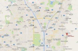 carte du pavillon d'or et du pavillon d'argent à Kyoto