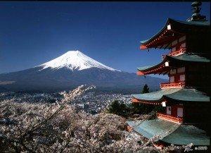 Mont Fuji au Japon 3776 m