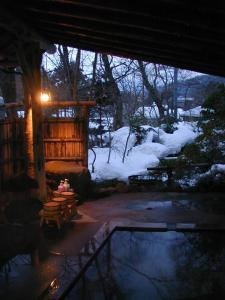Onsen source d'eau chaude naturelle au Japon