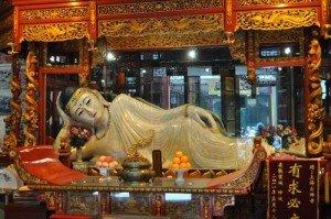 Shanghai bouddha de Jade allongé de 4  mètres de long 03