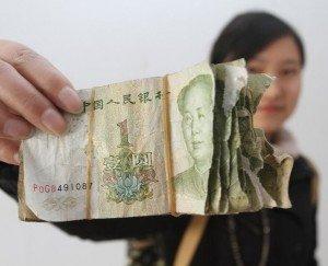 Yuan ou reminbi -RMB- ou 1 jiao ou mao