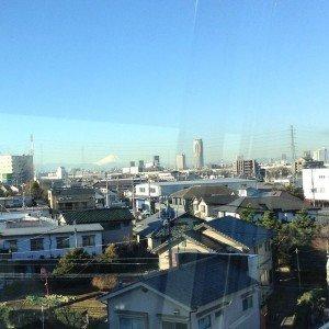 Laurent le 21 janvier 2015 lz FujiSan depuis la Nippori Toneri Liner