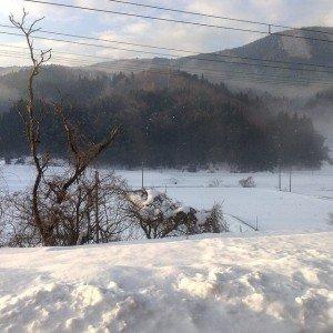 Laurent le 5 janvier 2015 évoque les matin frais de la fenêtre de son train