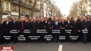 Marche républicaine à Paris le 11 janvier 2015
