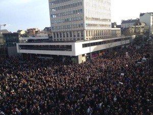Rennes le 11 janvier à 15 esplanade du Gal DeGaulle devant le Liberté 02