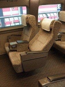 Shinkansen 700 siège de Green Car 03