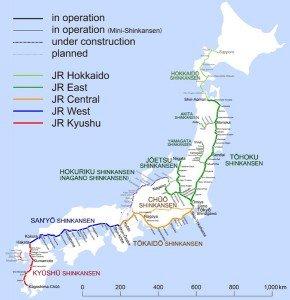 Shinkansen carte des lignes 01