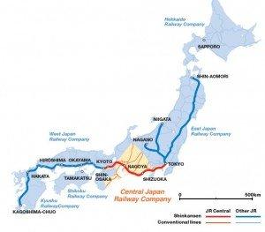 Shinkansen carte des lignes 02