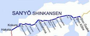 Shinkansen carte des lignes 02 San'YÔ