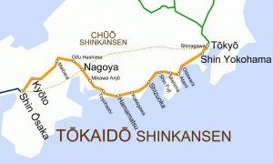 Shinkansen carte des lignes 03 Tôkaïdô