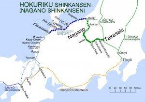 Shinkansen carte des lignes 04 détaillées Hokuriku Shinkansen