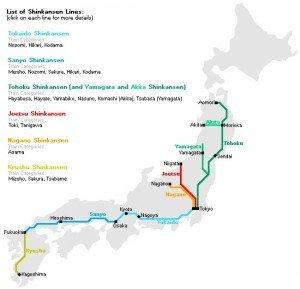 Shinkansen carte des lignes 05
