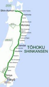 Shinkansen carte des lignes 05 détaillées Tôhoku Shinkansen