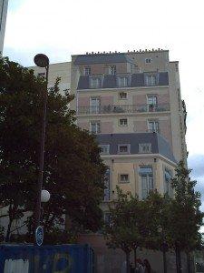 Trompe-l'eoil récent 05 Paris 19 ième arrondissement , angle de la rue Riquet et rue d'Aubervilliers
