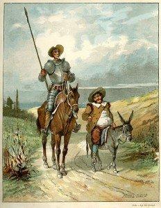 Dom Quijote et Sancho Pansa par David 01